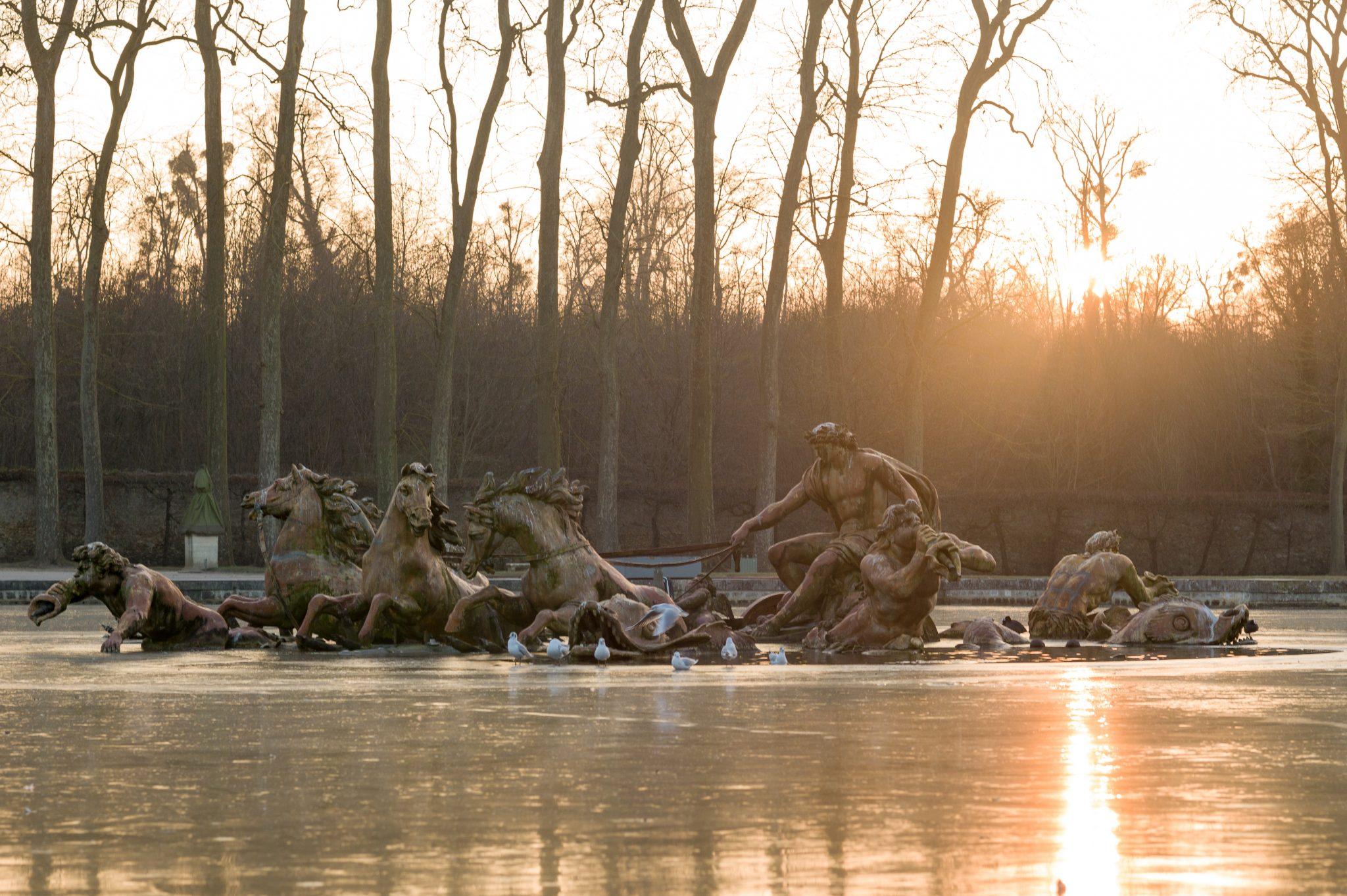 Versailles 20 janvier 2017 Le char du soleil - fontaine du bassin d'Apollon réalisé en 1668-1671 par Jean-Baptiste Tuby