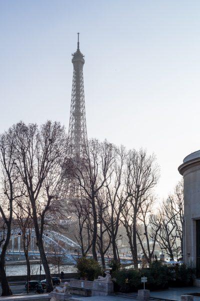 La tour Eiffel vue du palais de Tokyo 19 janvier 2017