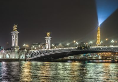 Paris 24 décembre 2016 - la Seine au pont Alexandre III_
