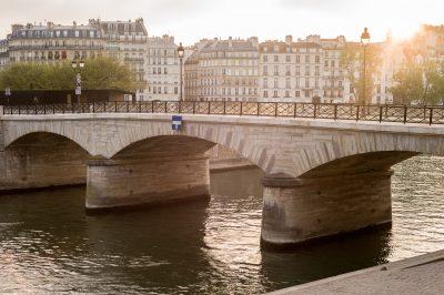 Paris l'Isle Saint Louis le pont de l'archevêché 13 avril 2017