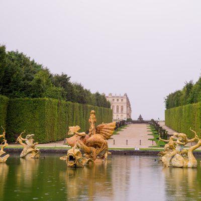 Versailles - 11 août 2014 Le bassin du Dragon - réalisé par les frères Marsy et installé en 1667