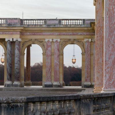 Versailles  16 décembre 2013  Le péristyle du Grand Trianon