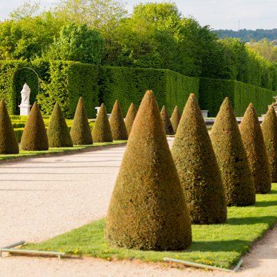 Versailles 27 avril 2015  la Pyramide bassin creusé en 1668 adopte une forme circulaire en 1683
