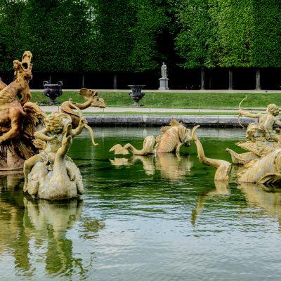 Versailles 27 avril 2015 le Bassin du Dragon réalisé par les frères Marsy, installé l'année suivante 1667