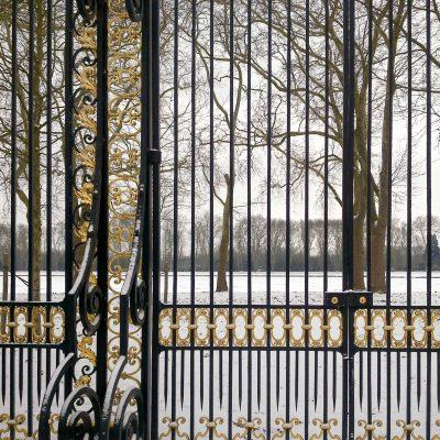 Versailles grille du potager du Roi au bassin des Suisses 9 janvier 2010