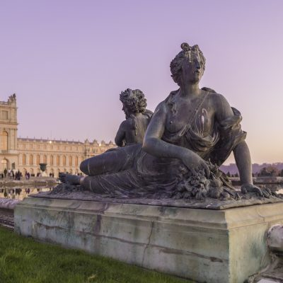Versailles parterre d'eau bassin sud - Nymphe à la corne d'abondance Jean Melchior Raon - 19 novembre 2011 18 h 30